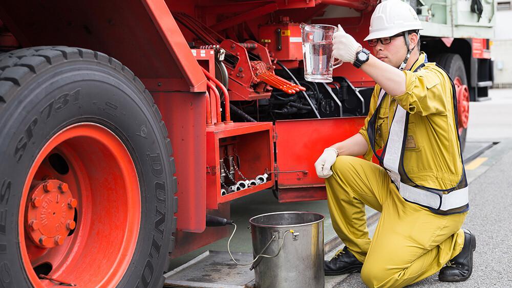 燃料の品質検査イメージ
